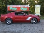 Terri Fritts 2013 Shelby 7.53@95MPH 1/8 Mi. on MT 295/55R15 Drag Radial and Billet Specialties Street Lite 15x10 rear wheels